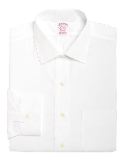 Brooks Brothers | White Non-iron Traditional Fit Spread Collar Dress Shirt for Men | Lyst
