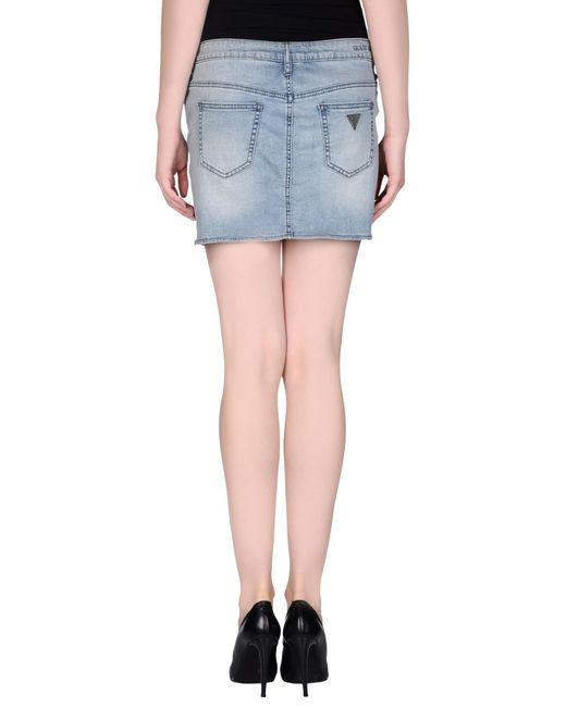 guess denim skirt in blue save 74 lyst
