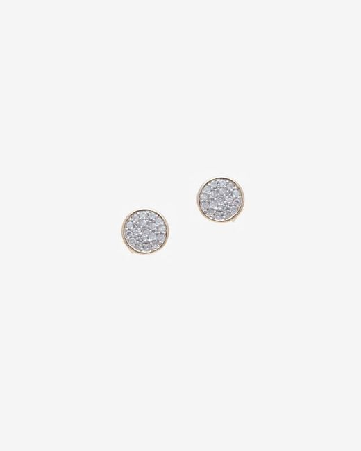 Adina Reyter | Metallic Pave Diamond Disc Earring | Lyst