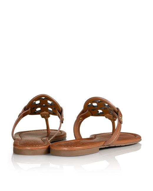 Tory Burch | Brown Miller Sandal, Leather | Lyst