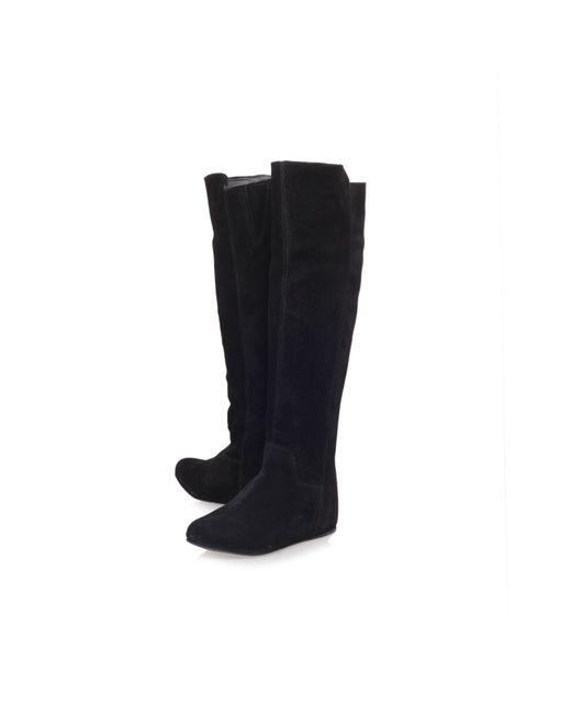 carvela kurt geiger wonderful wedge boot in black lyst