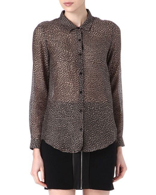 The Kooples   Gray Leopardprint Shirt   Lyst