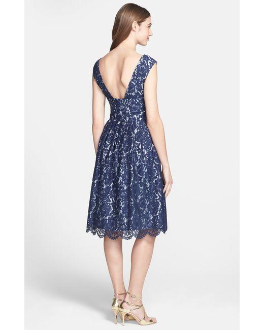 Maggy London Jungle Fern Print Jersey Wrap Dress In Blue