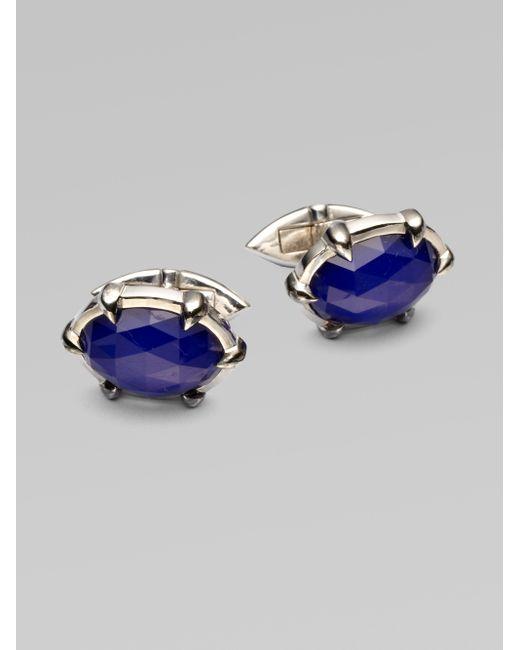 Stephen Webster | Blue Semi-precious Sterling Silver Cuff Links for Men | Lyst