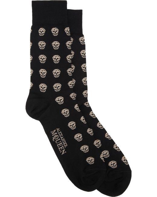 Alexander McQueen   White Skull-patterned Cotton-blend Socks for Men   Lyst