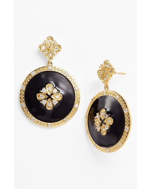 Freida Rothman | Black Circle Drop Earrings | Lyst