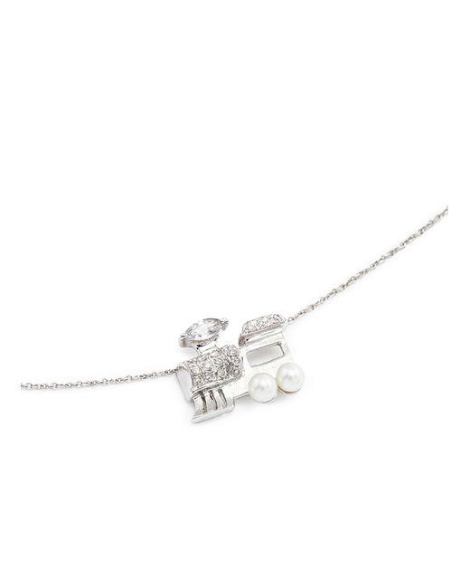 Bao Bao Wan | Metallic 'little Train' 18k Gold Diamond Pearl Necklace | Lyst