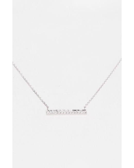 Dana Rebecca | White 'sylvie Rose' Medium Diamond Bar Pendant Necklace | Lyst