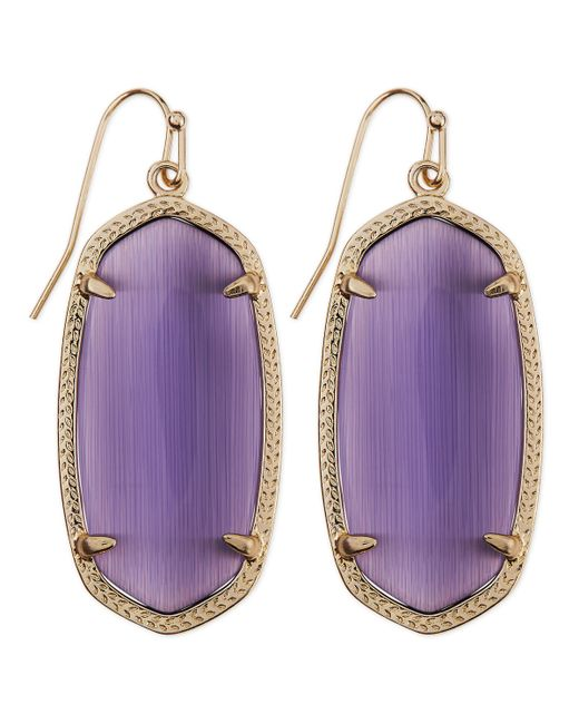 Kendra Scott   Goldplated Elle Earrings Purple   Lyst
