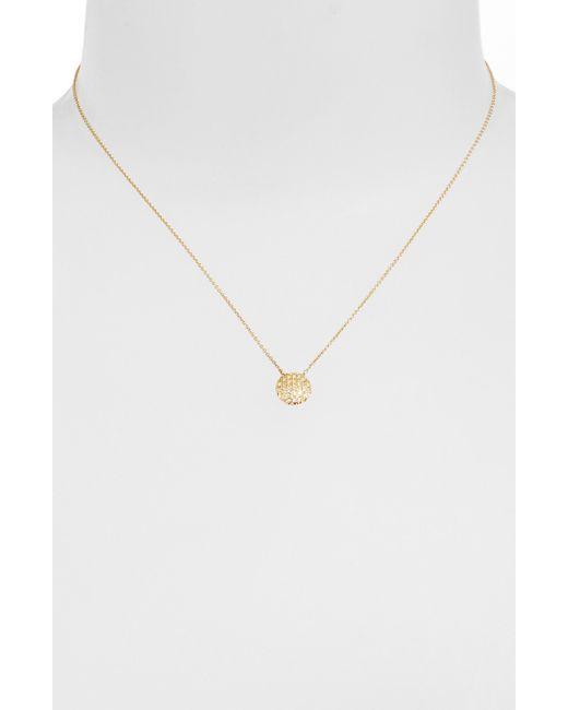 Dana Rebecca   Yellow 'lauren Joy' Diamond Disc Pendant Necklace   Lyst