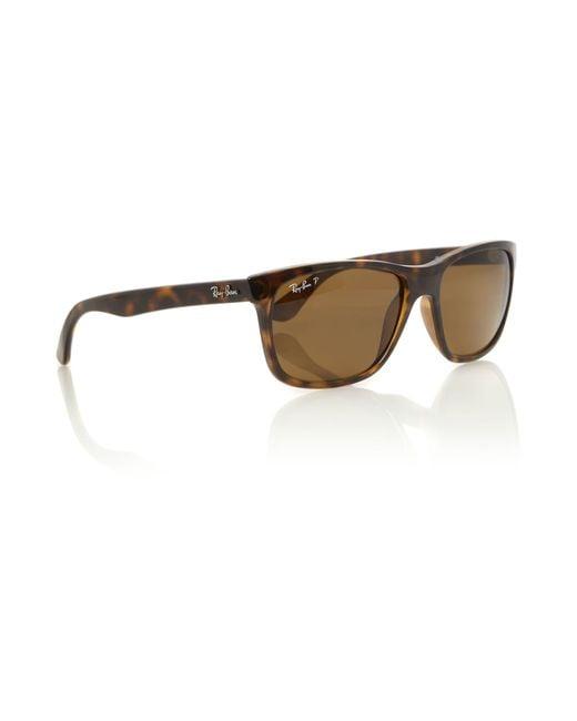 Ray-Ban | Brown Unisex Rb4181 Light Havana Square Sunglasses for Men | Lyst