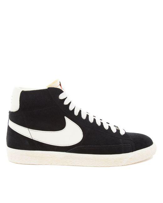 Nike | Black Blazer Hi Vintage Suede Sneakers for Men | Lyst