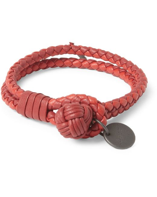 Bottega Veneta | Red Intrecciato Double for Men | Lyst
