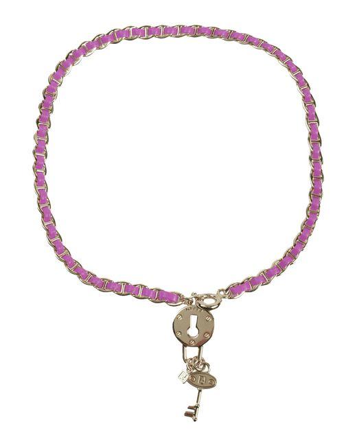 fendi necklace in purple fuchsia save 24 lyst