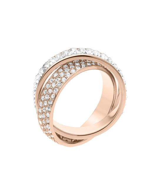 Michael Kors | Metallic Pave/Baguette Eternity Ring | Lyst
