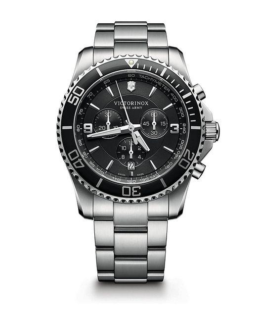 Victorinox   Black Victorinox Swiss Army 'maverick' Chronograph Bracelet Watch for Men   Lyst