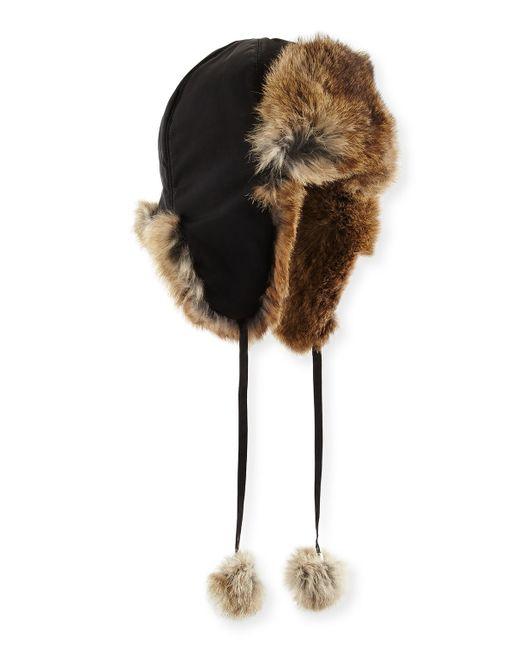 Adrienne Landau   Brown Rabbit Fur Trapper Hat   Lyst