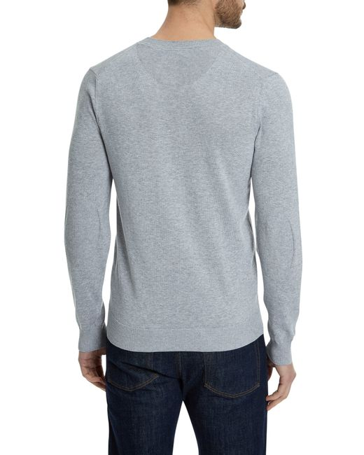 lacoste v neck sweater in metallic for men lyst. Black Bedroom Furniture Sets. Home Design Ideas