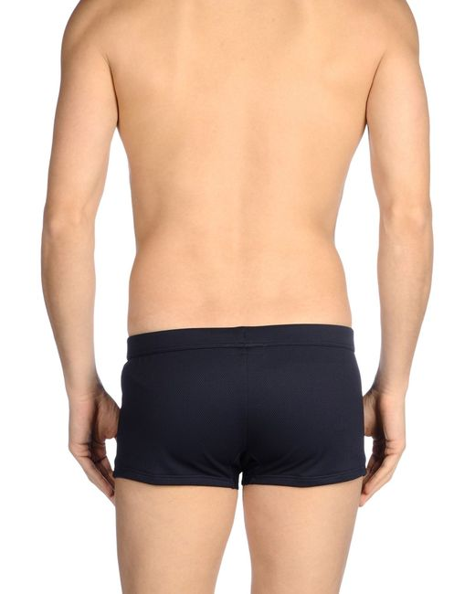 emporio armani bikini bottoms in blue for men dark blue save 60 lyst. Black Bedroom Furniture Sets. Home Design Ideas