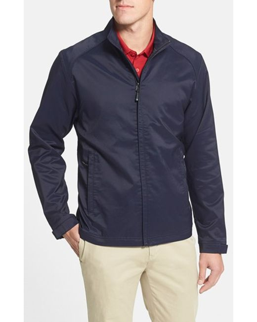 Cutter & Buck | Blue 'blakely' Weathertec Wind & Water Resistant Full Zip Jacket for Men | Lyst
