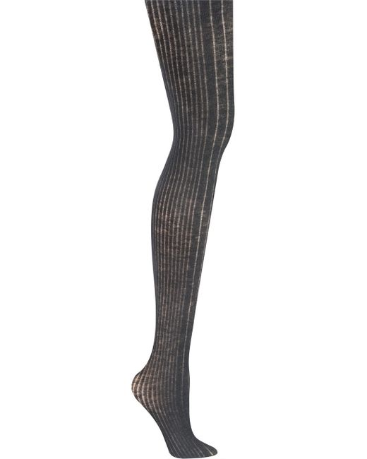 DKNY | Gray Rib Knit Tight | Lyst