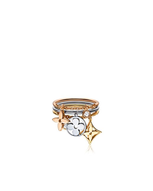 Louis Vuitton | White Idylle Blossom Pampilles Ring, 3 Golds And Diamonds | Lyst