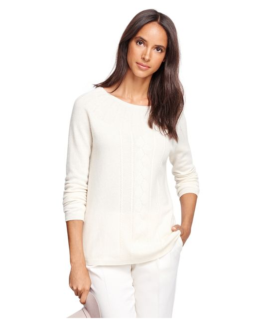 Brooks Brothers | White Cashmere Boatneck Sweater | Lyst