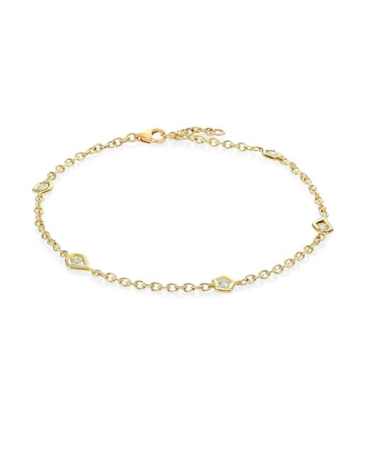 Ron Hami | Metallic Rain Diamond & 18k Yellow Gold Organic Station Bracelet | Lyst