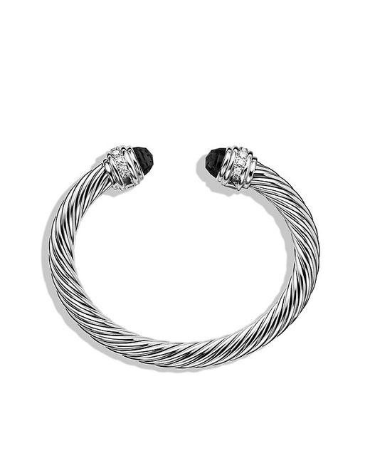 David Yurman   Cable Classics Bracelet With Black Onyx & Diamonds   Lyst