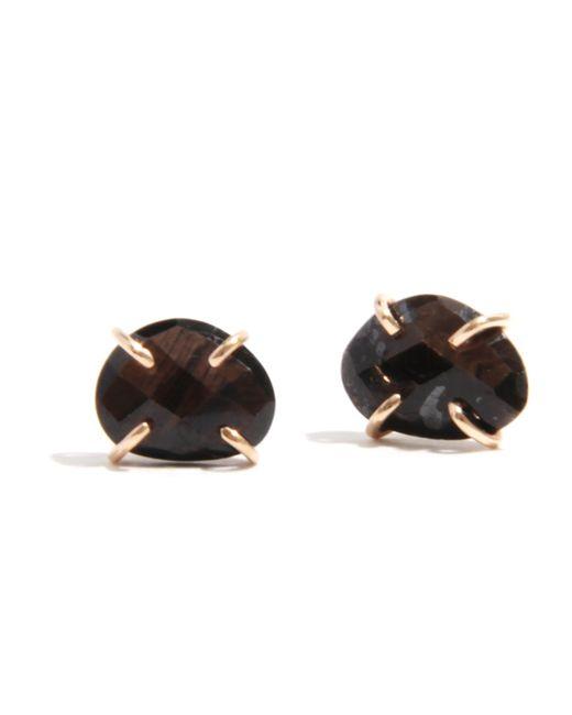 Melissa Joy Manning | Black Brown Sapphire Stud Earrings | Lyst