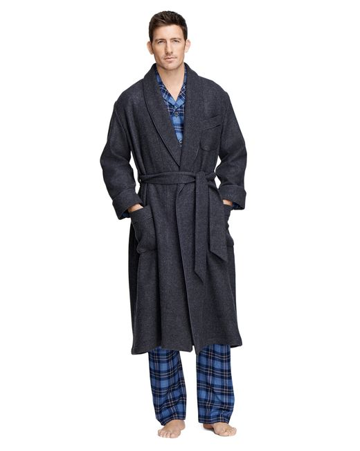 Brooks Brothers | Gray Cashmere And Wool Robe for Men | Lyst