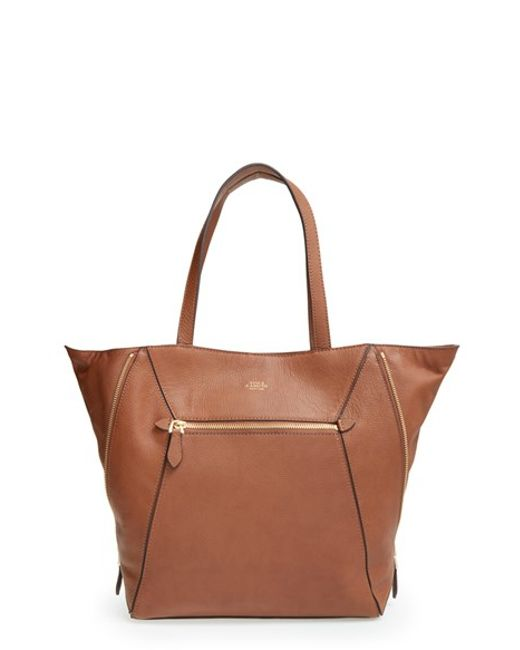 Vince Camuto | Brown 'maggi' Pebbled Leather Tote | Lyst