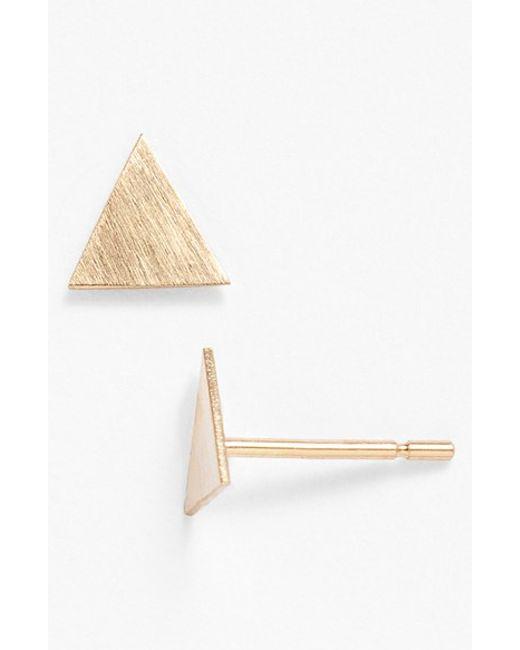 Melissa Joy Manning | Yellow Triangle Stud Earrings | Lyst