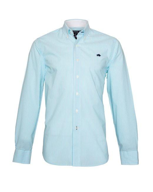 Raging Bull | Blue Candy Stripe Long Sleeve Button Down Shirt for Men | Lyst