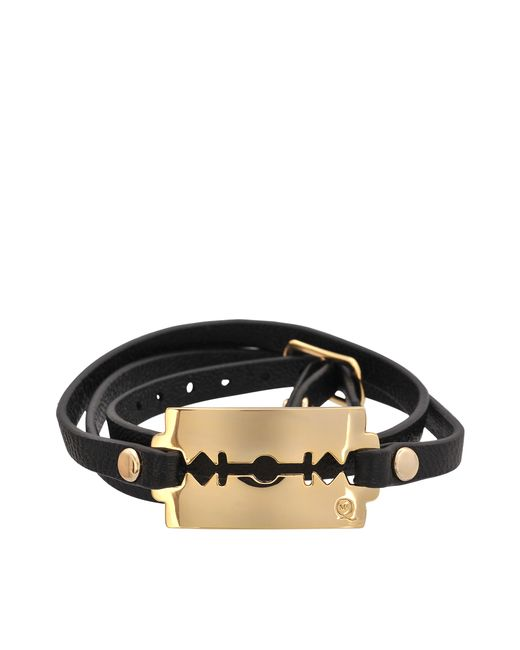 McQ | Black Triple Razor Bracelet | Lyst
