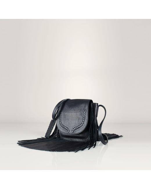 Polo Ralph Lauren | Black Fringe Leather Crossbody Bag | Lyst