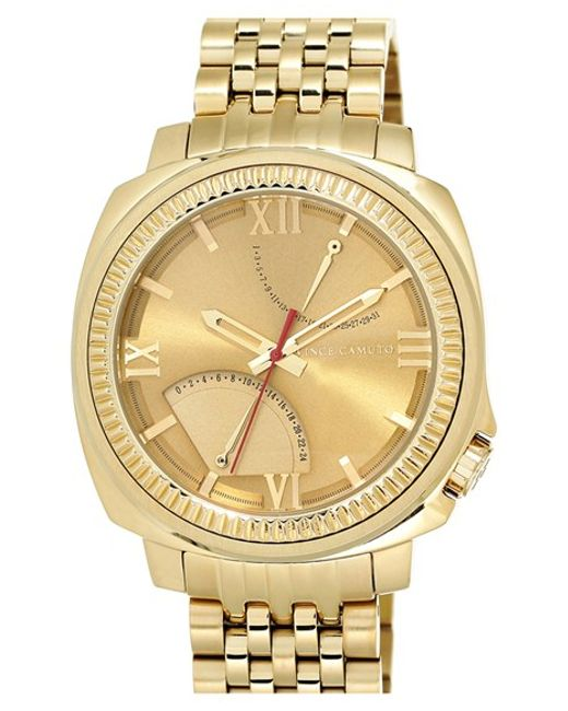 Vince Camuto Multifunction Bracelet Watch In Gold Lyst