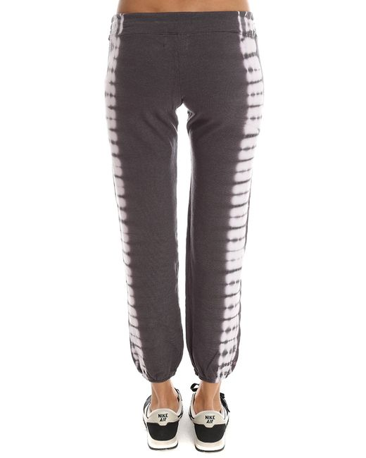 Monrow   Gray Border Tie Dye Vintage Sweatpant   Lyst