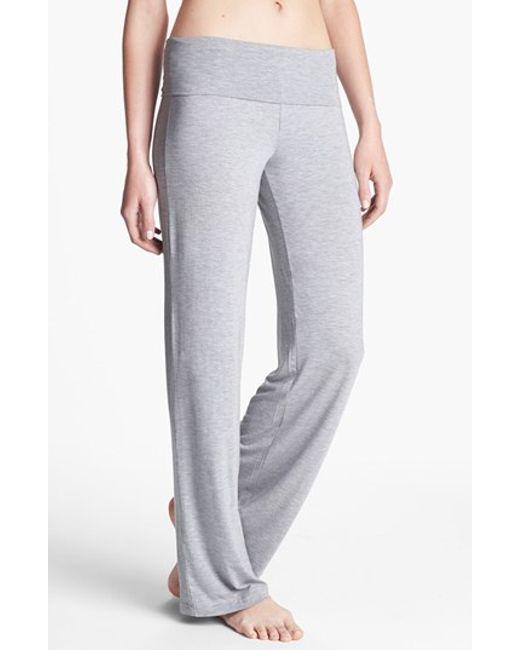 Calvin Klein | Gray 'essentials' Roll Waist Pants | Lyst