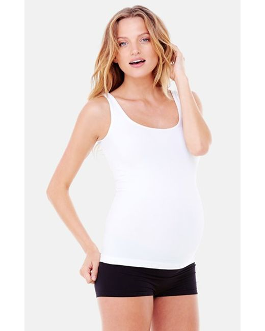Ingrid & Isabel | White Ingrid & Isabel 'everyday' Seamless Maternity Tank | Lyst