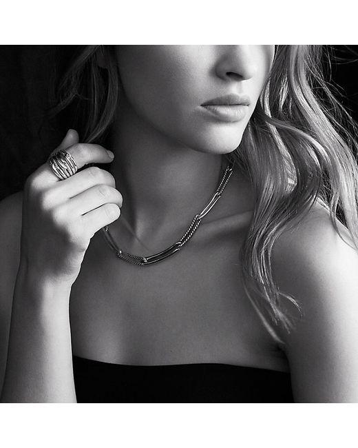 David Yurman | Metallic Labyrinth Link Necklace With Gold | Lyst