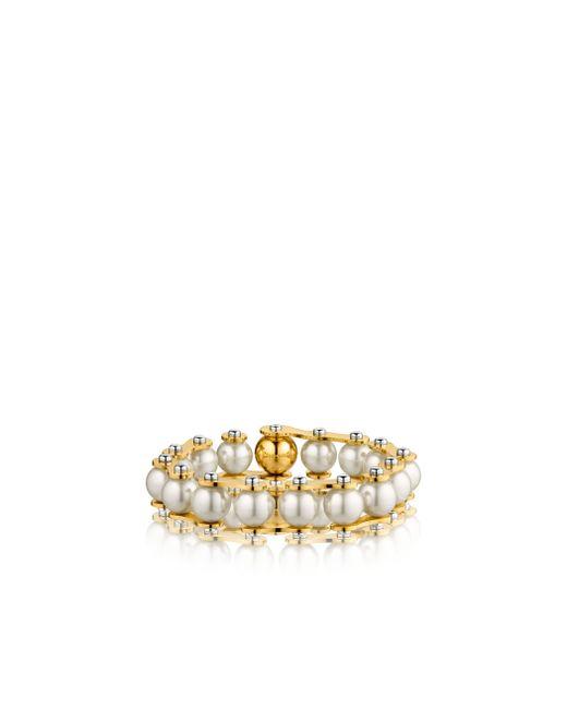 Louis Vuitton | Metallic Lv Speedy Pearls One-rank Bracelet | Lyst