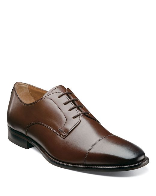 Florsheim | Brown Sabato Leather Cap-toe Oxfords for Men | Lyst