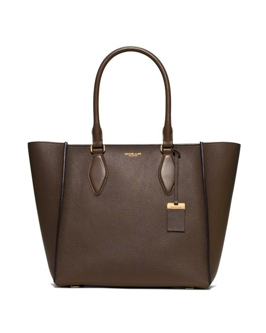 Michael Kors | Gray Gracie Large Leather Tote | Lyst