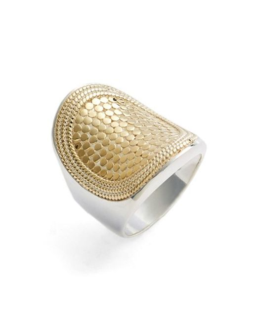 Anna Beck | Metallic 'gili' Saddle Ring | Lyst