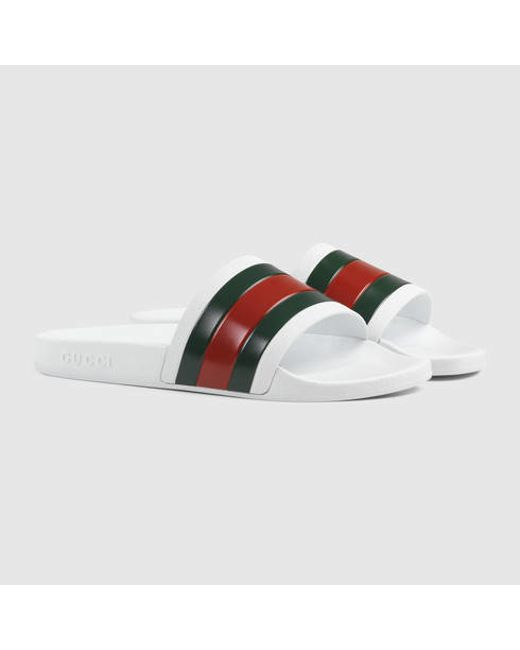 Mens Gucci Striped Shoes