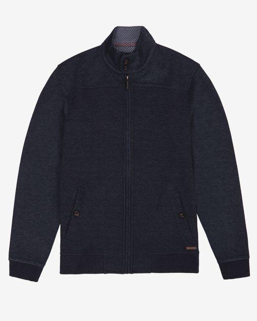 Ted Baker   Blue Quilted Funnel Neck Jacket for Men   Lyst