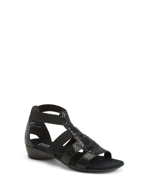Munro   Black 'zena' Snake Embossed Sandal (women) - Multiple Widths Available   Lyst