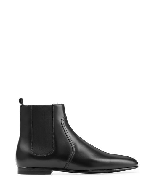 burberry leather chelsea boots in black for lyst