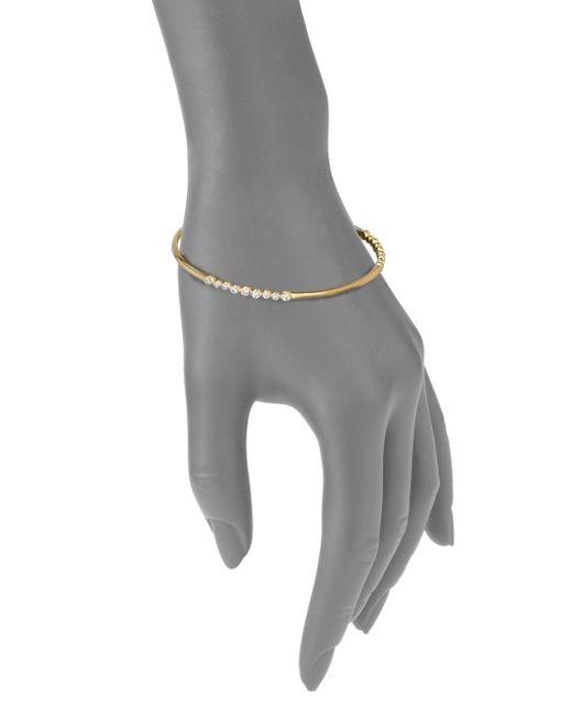 Ippolita | Metallic Glamazon Stardust Diamond & 18k Yellow Gold Bezel-set Station Bangle Bracelet | Lyst